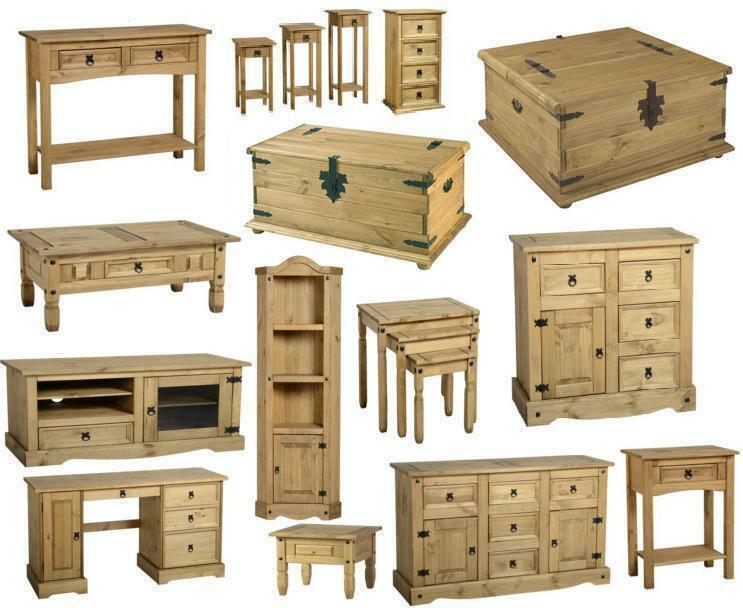 Corona Mexican Pine Living Room Furniture Chest Table Tv Unit Stands Shelves Ebay