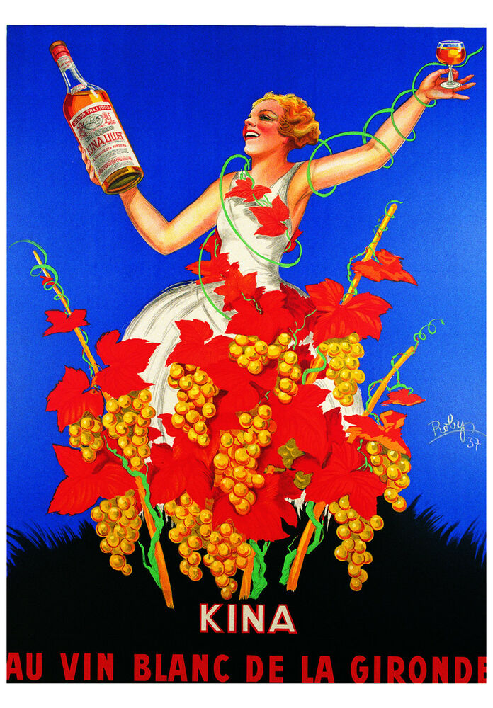 VINTAGE FRENCH WINE POSTER
