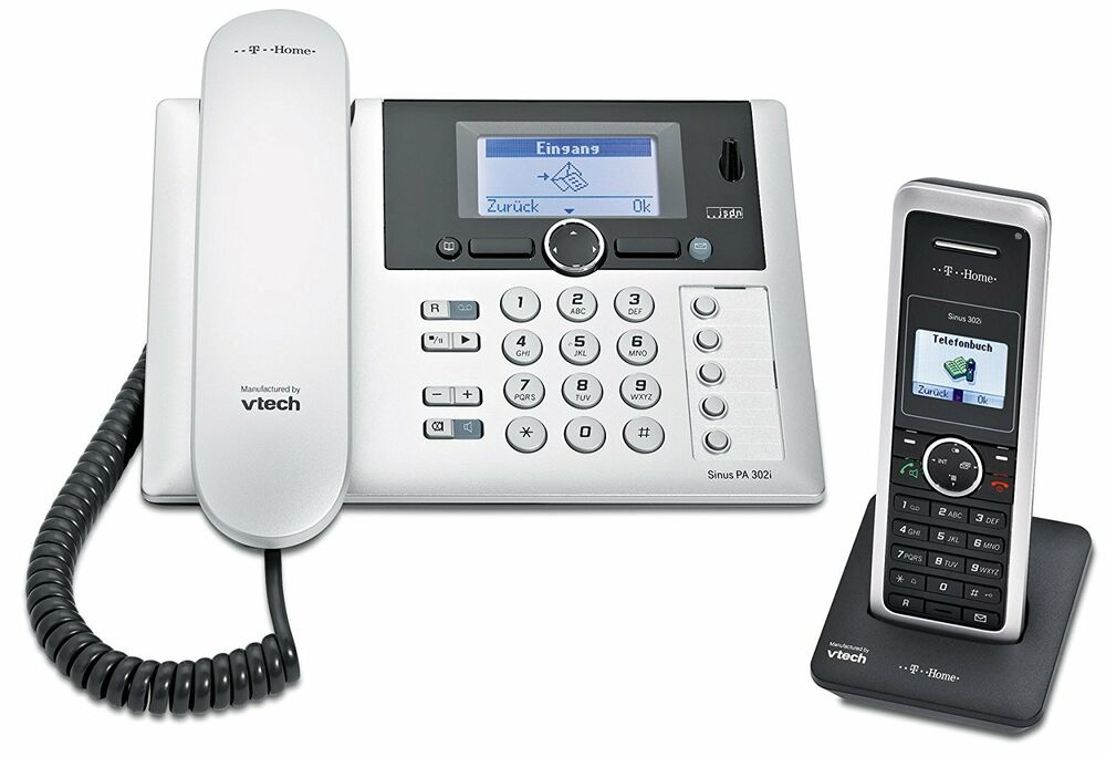 t sinus pa302i 1 isdn tischtelefon mit 1 mobilteil und. Black Bedroom Furniture Sets. Home Design Ideas