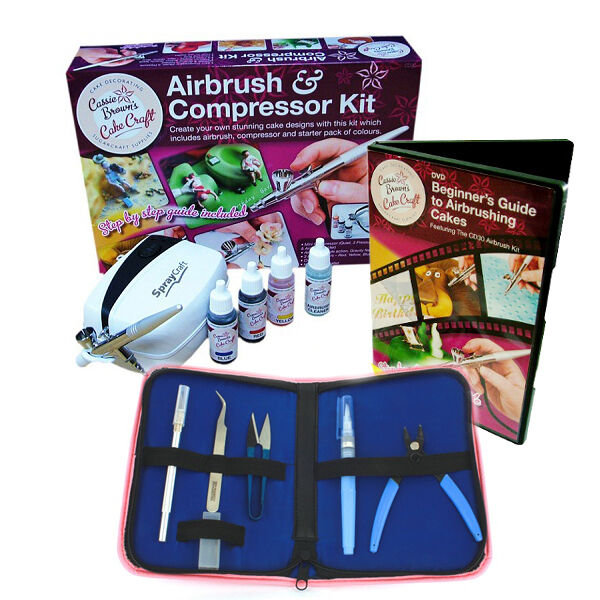 Cassie Brown CD30 Cake Decorating Airbrush Kit + TOOL SET ...