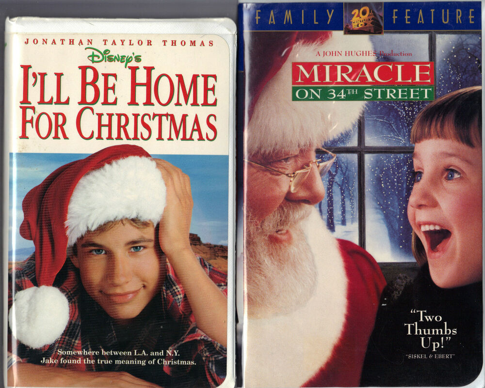 Where Can I Sell My Vhs Tapes >> I'll Be Home For Christmas (VHS, 1999) & Miracle on 34th ...