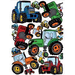 TRACTORS giant wall stickers 17 vinyl decals room decor party decoration farm