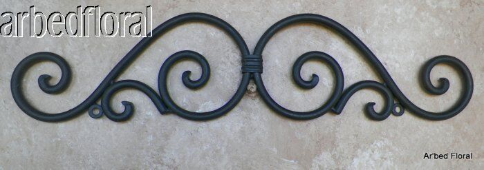 17 wrought iron metal scroll picture topper wall decor grill ebay. Black Bedroom Furniture Sets. Home Design Ideas