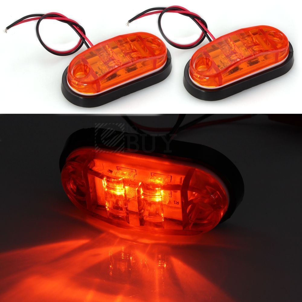2 x car truck trailer piranha led side marker blinker. Black Bedroom Furniture Sets. Home Design Ideas