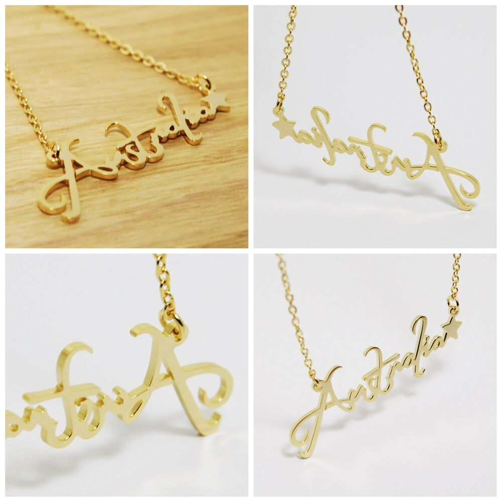 New personalized jewelry name plates silver necklace