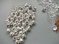 50 X SILVER COLOUR SMALL BELLS, GREAT FOR JEWELLERY MAKING,KEY/BAG CHARM