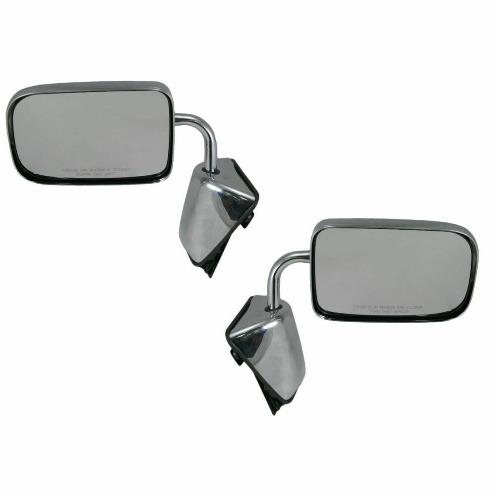 Folding Chrome Manual Mirrors Pair Set For 88 93 100 250