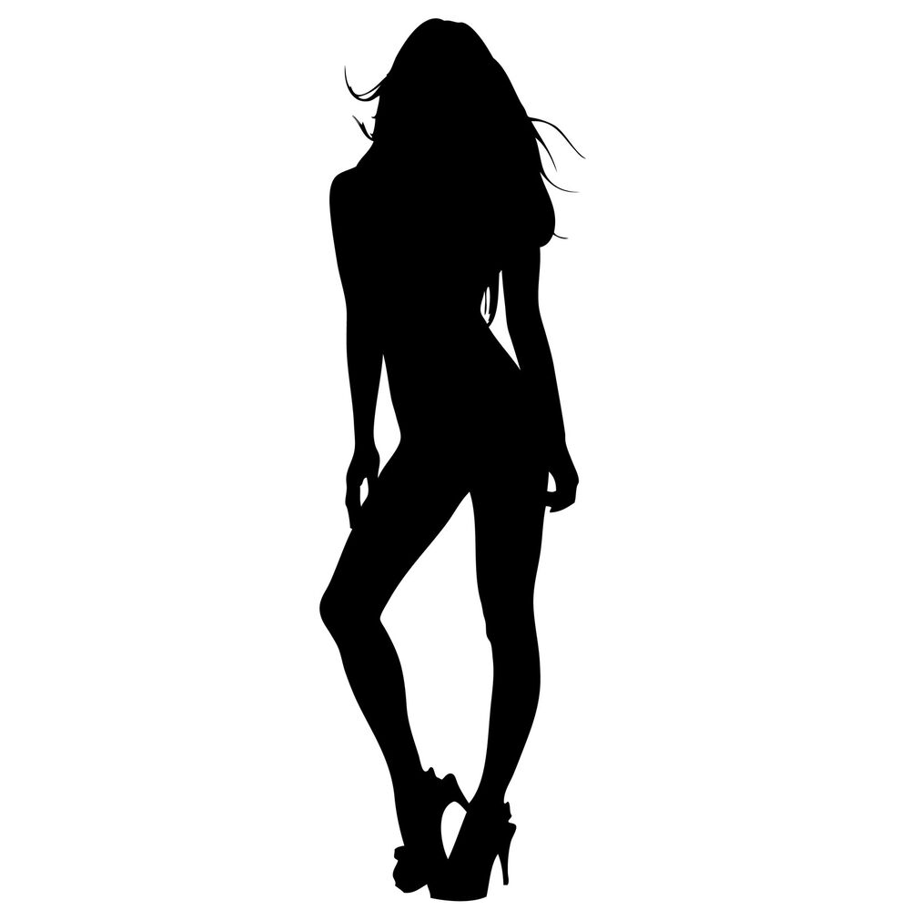 SEXY SILHOUETTE Pin Up Girl * Window WALL DECAL* Vinyl Car STICKER ...
