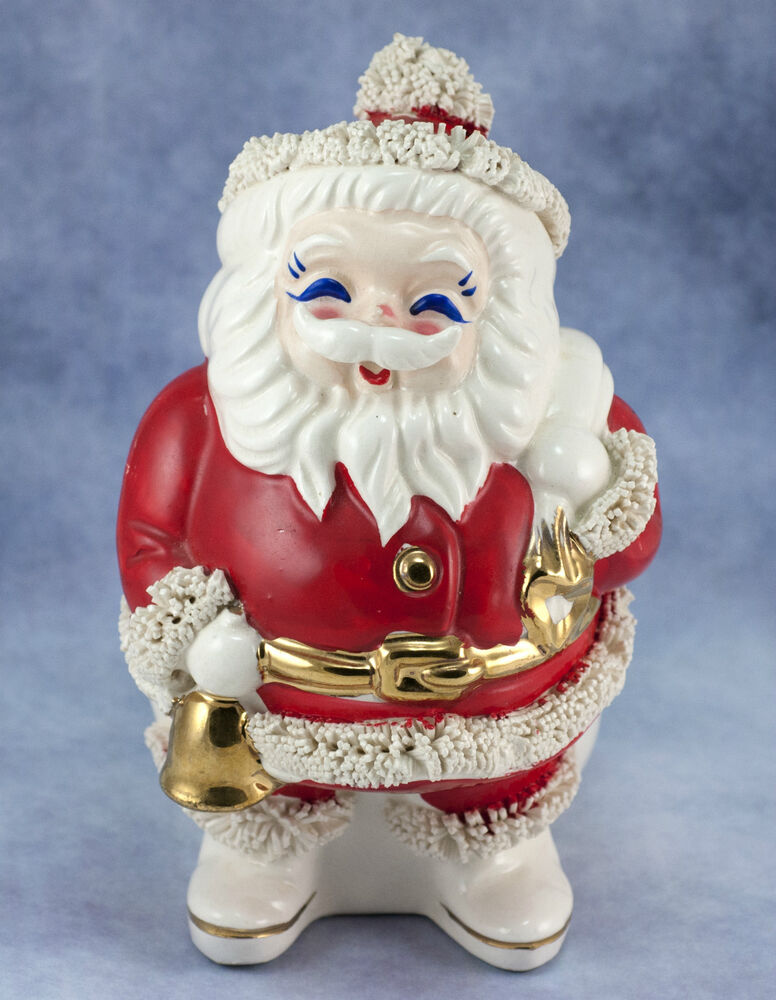 Christmas Pottery Barn Knock Offs And Others Too: Vintage Ceramic Pottery Christmas Spaghetti Santa Claus