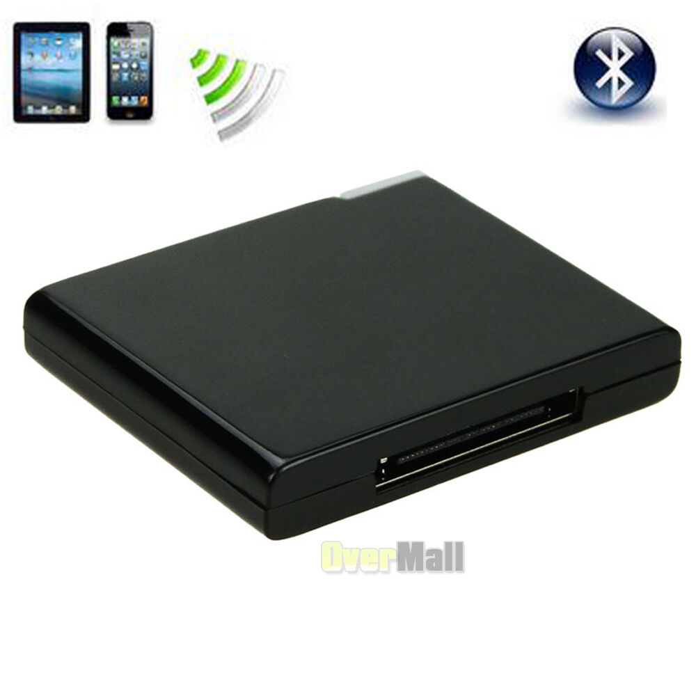 bluetooth music receiver adapter for ipod iphone 30 pin. Black Bedroom Furniture Sets. Home Design Ideas