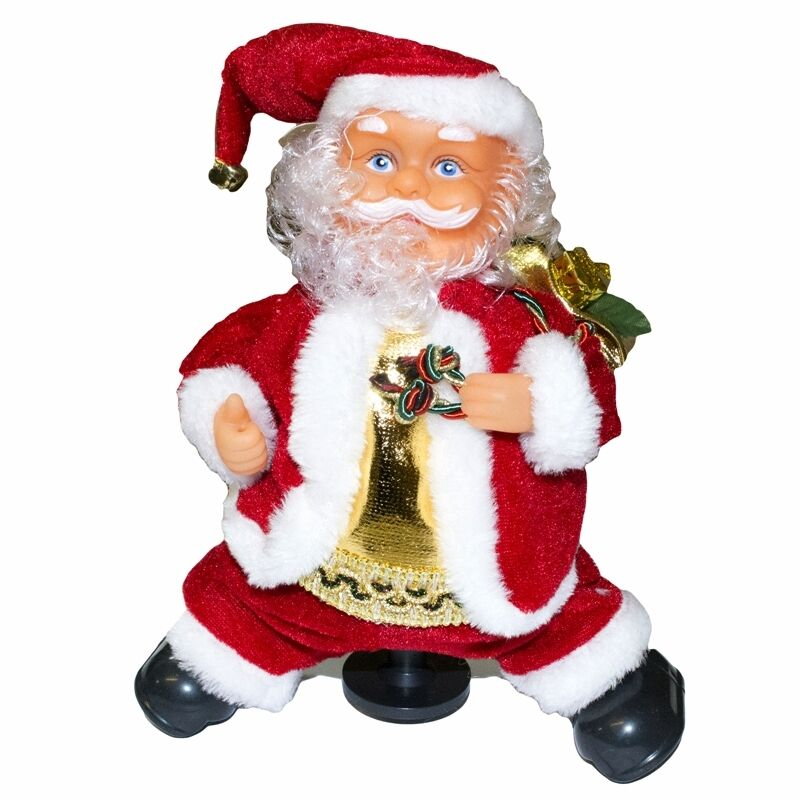 Singing Christmas Decorations: Animated Musical Dancing Singing Santa Figurine Christmas