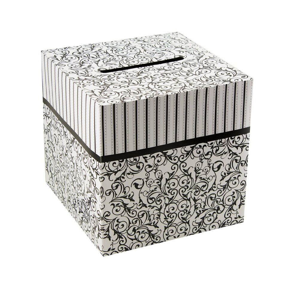 Wedding Card Boxes For Receptions: Black & White Wedding Card Money Gift Box Reception
