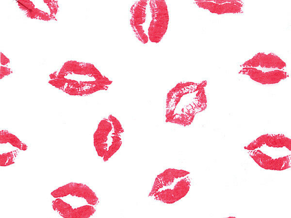Pink Lips Lipstick Kisses Tissue Paper 120 Sheets Crafts