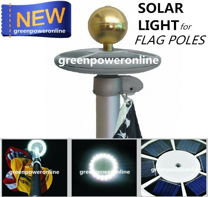 solar upgraded flagpole light 20leds top mount for yard. Black Bedroom Furniture Sets. Home Design Ideas