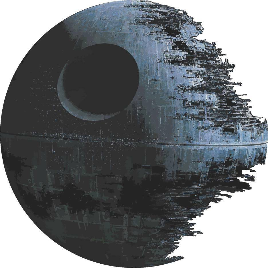 Death star artwork star wars decal removable wall sticker for Death star wall mural