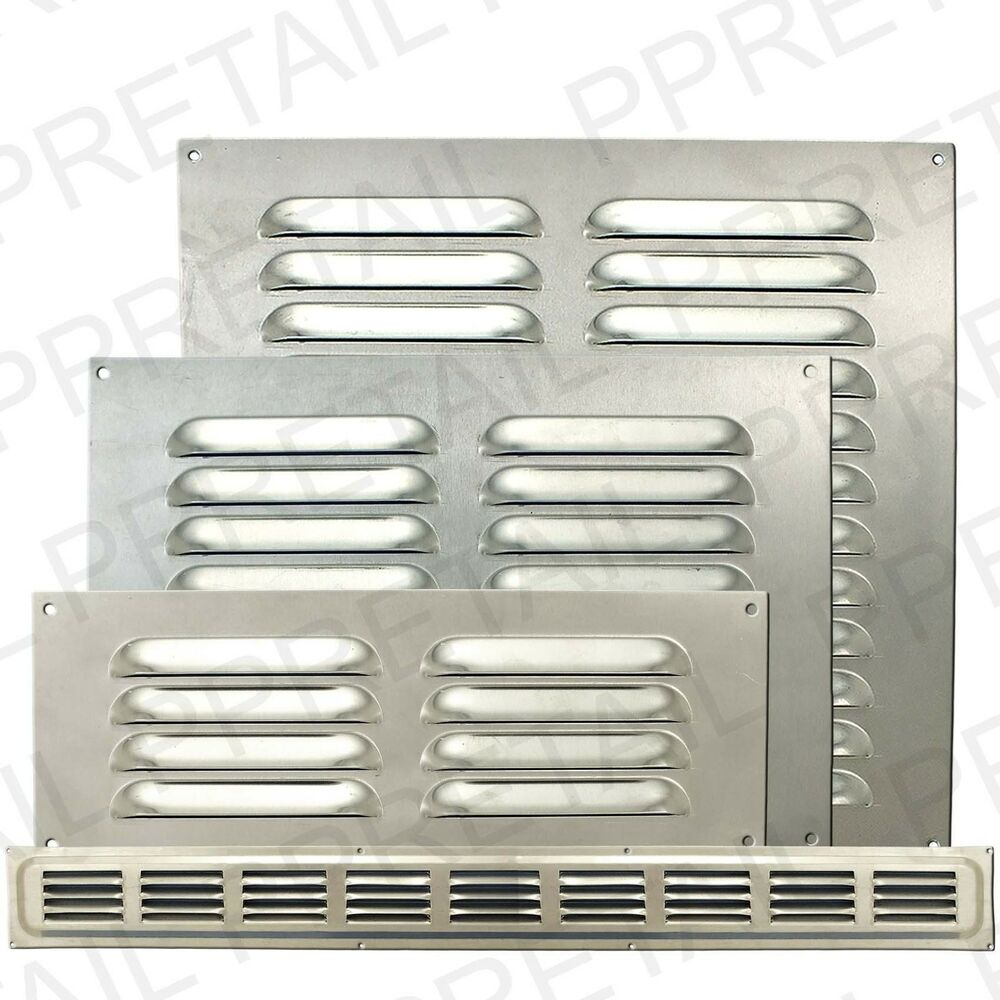 Silver Metal Louvre Air Vents Small Large Ventilation