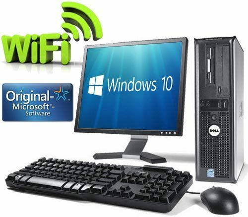 17 monitor dell optiplex dual core dvd wifi windows 10. Black Bedroom Furniture Sets. Home Design Ideas