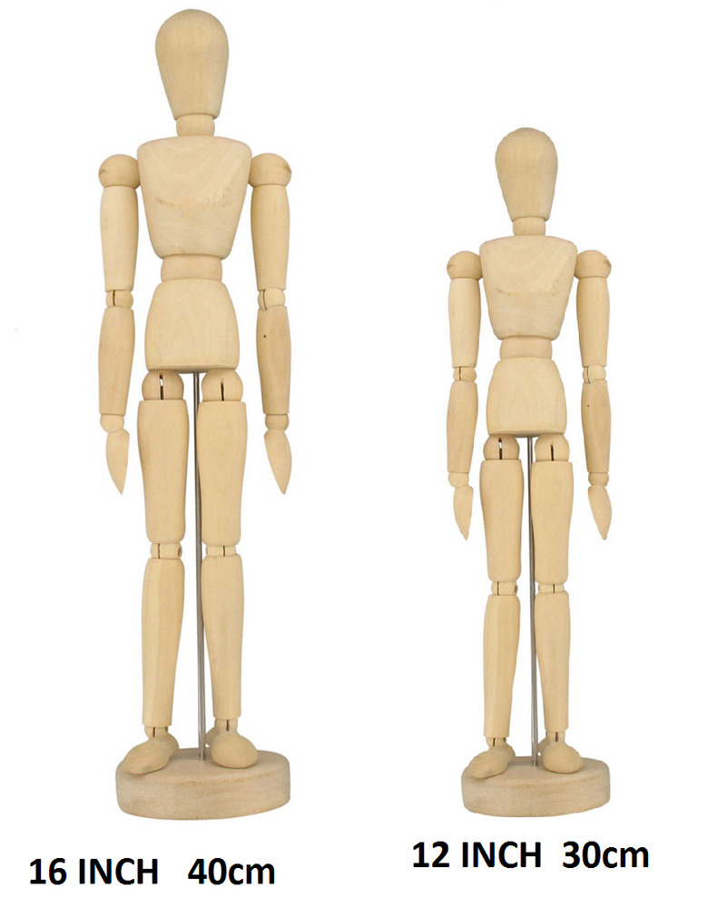 This is a photo of Clean Wooden Drawing Mannequin