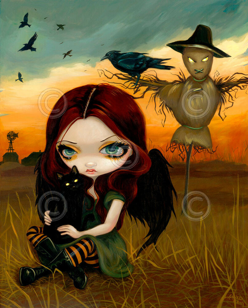 fairy art print   the scarecrow by jasmine becket griffith