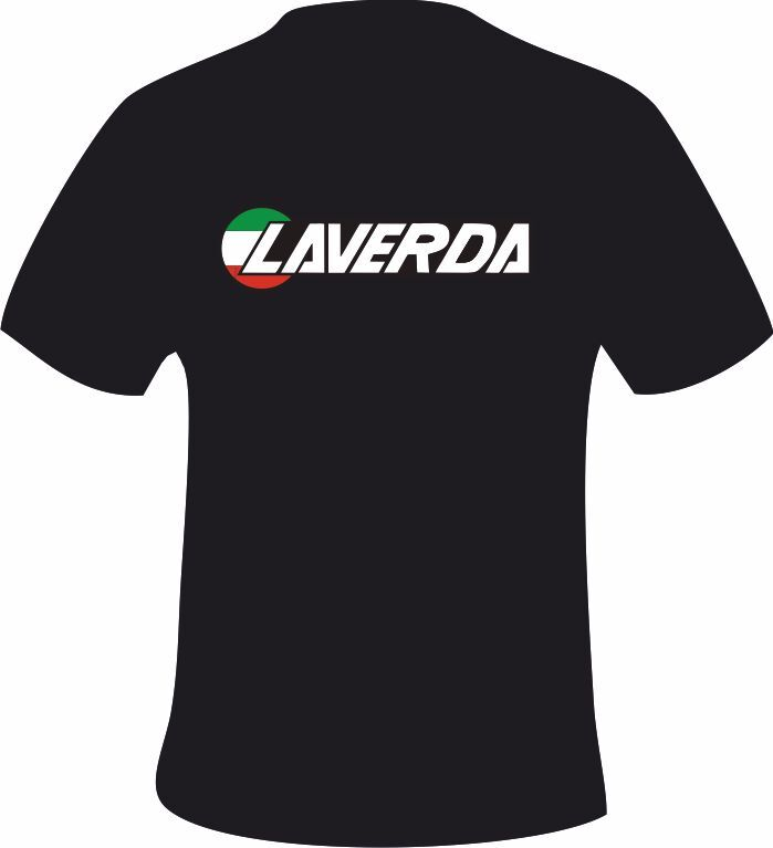 Laverda jota long style motorcycle printed t shirt in 6 for T shirt print dimensions