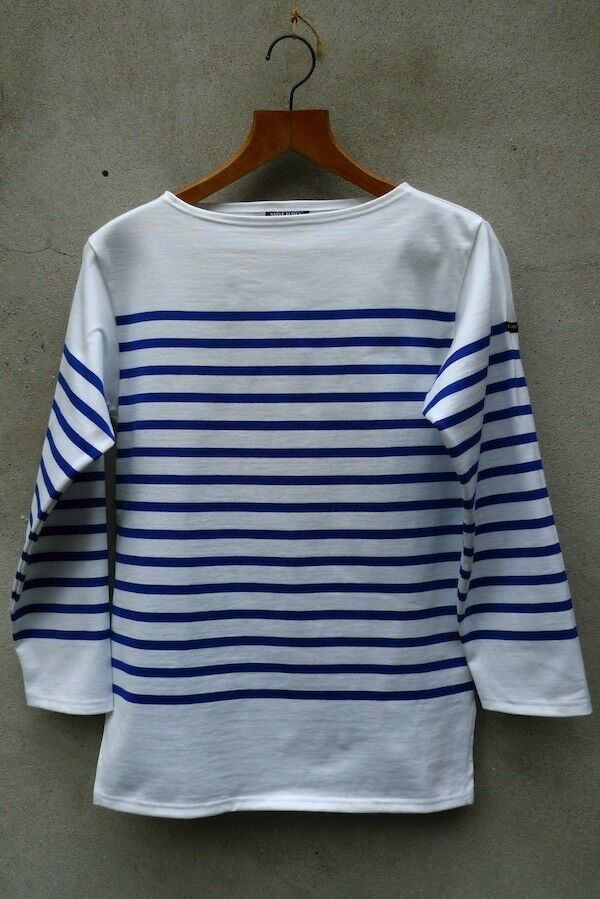 Pablo picasso breton shirt white blue by saint james for St james striped shirt