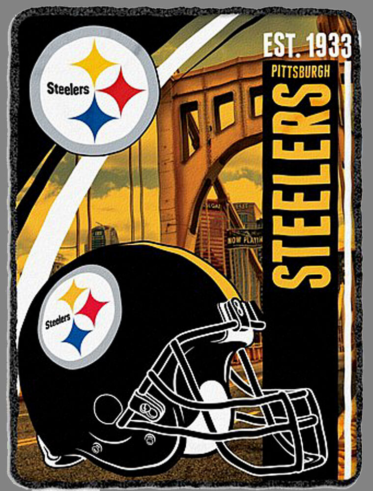Pittsburgh Steelers Blanket Bedding 60x80 Free Shipping