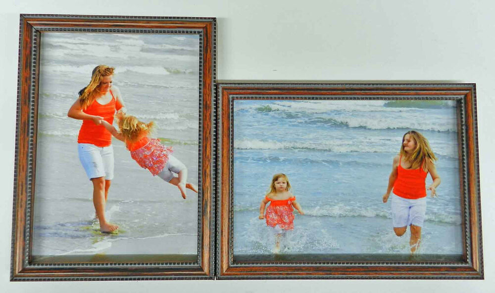 4x5 4x6 5x7 8x10 wood photo picture frame two double frames hinged new ebay. Black Bedroom Furniture Sets. Home Design Ideas