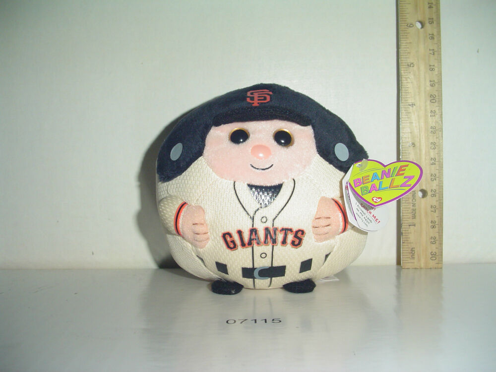 Rare Limited Ty San Francisco Giants Beanie Baby Ballz Nwt