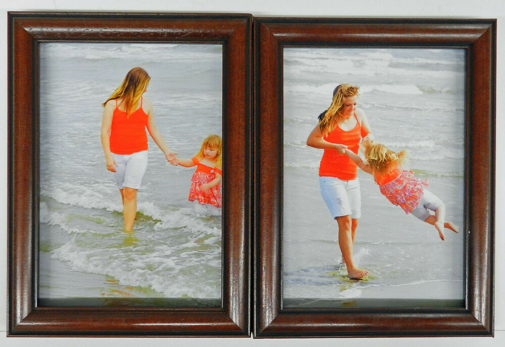 4x5 4x6 5x7 8x10 cherry black wood picture photo frame double hinged new ebay. Black Bedroom Furniture Sets. Home Design Ideas