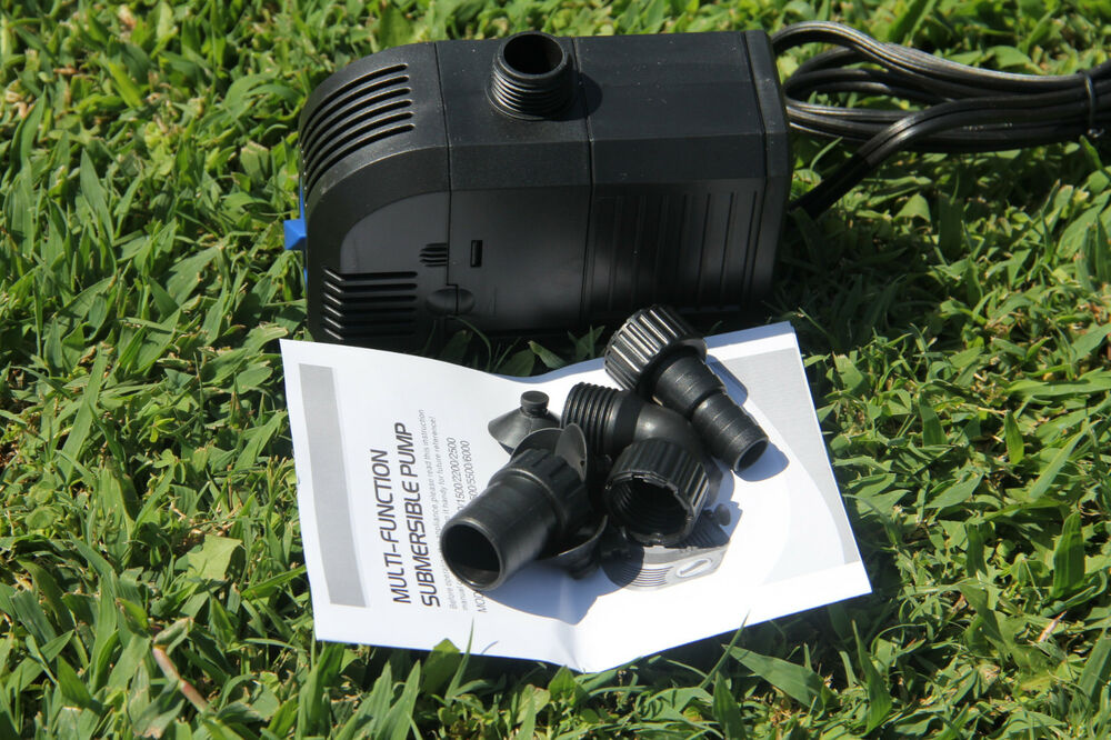 400gph submersible pump fountain pond waterfall ebay for Pond waterfall pump