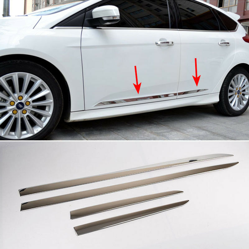 For 2012 2014 ford focus chrome side door molding moulding trim accents garnish ebay for 2012 ford focus exterior accessories