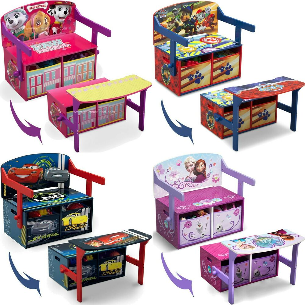 disney 3 in 1 kinder sitzbank spielzeugkiste kinderm bel. Black Bedroom Furniture Sets. Home Design Ideas