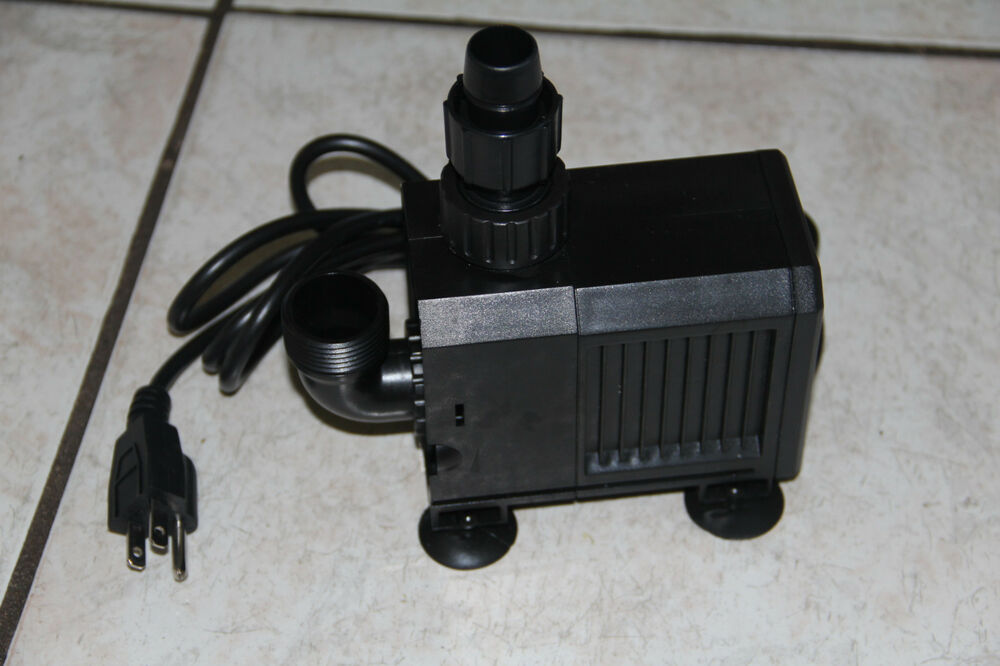 1380gph pond pump adjustable submersible inline fountain for Submersible pond pump with filter