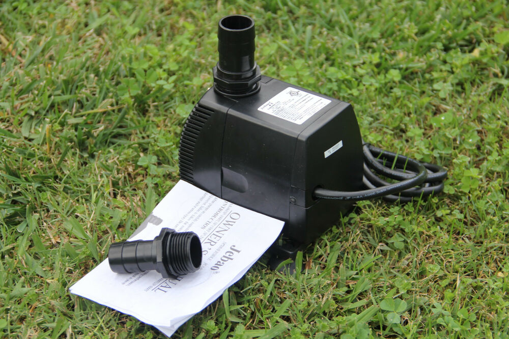 1300gph 1350gph submersible pump fountain pond for Pond waterfall pump
