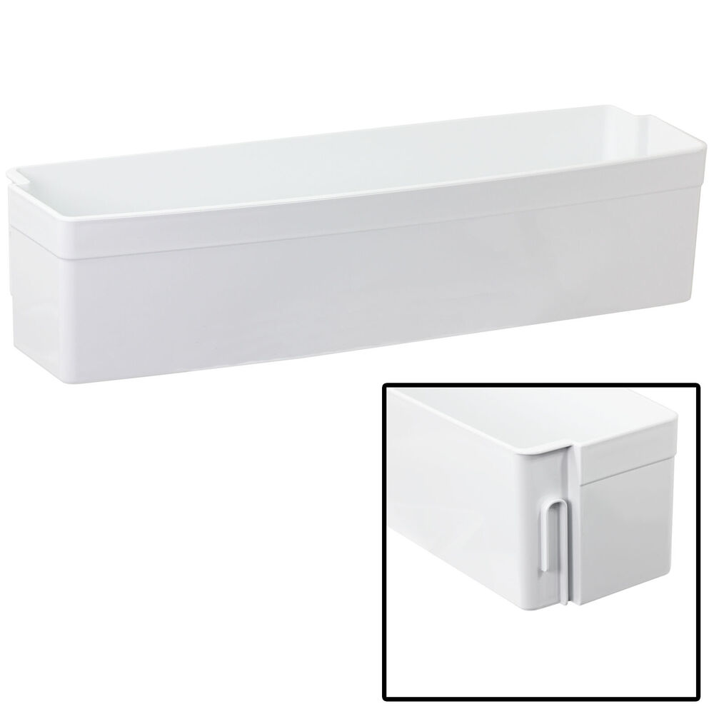 how to get bottom tray back on a fridge