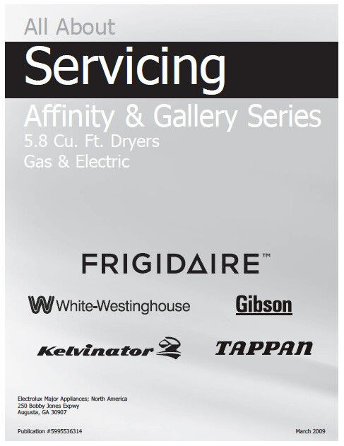 Frigidaire Affinity Amp Gallery Gas Amp Electric Dryer