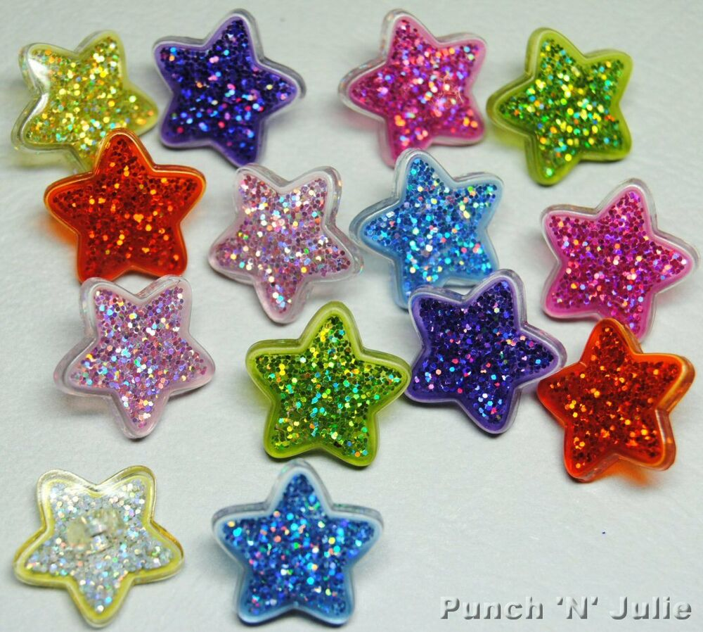 Plastic glitter stars sparkle kitsch christmas novelty for Crafts that sell on ebay