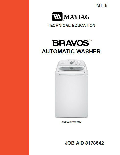 Maytag Bravos Washer Service Amp Repair Manual Ebay