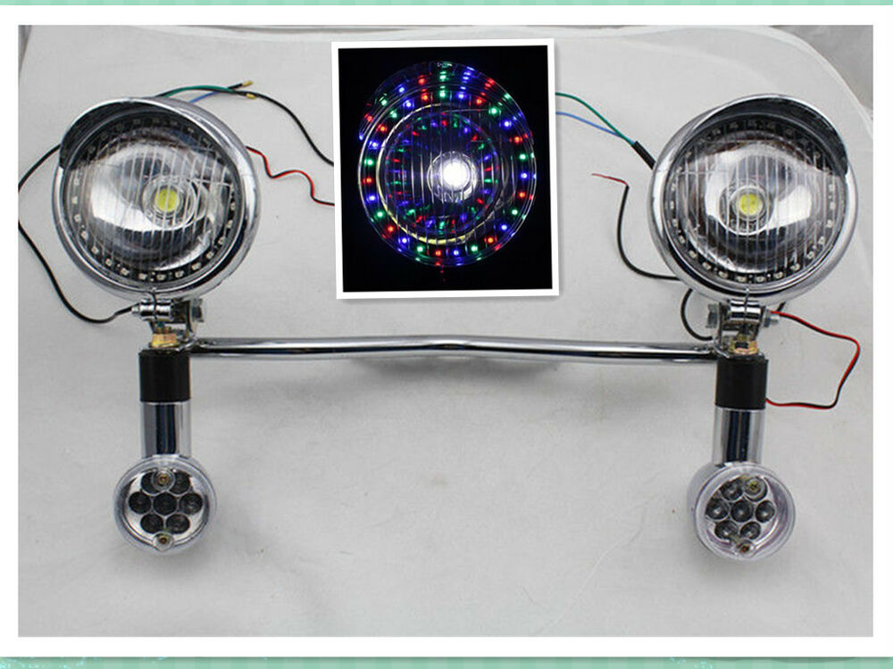 Led Turn Signal Driving Colorful Spot Lights Motorcycle
