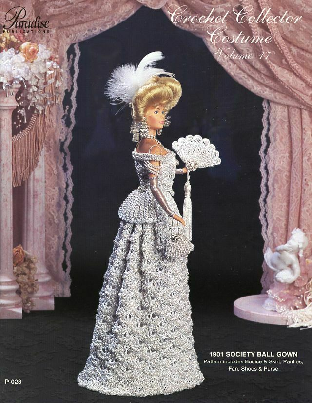 1901 Society Ball Gown Paradise Vol. 17 Barbie Doll Crochet PATTERN ...