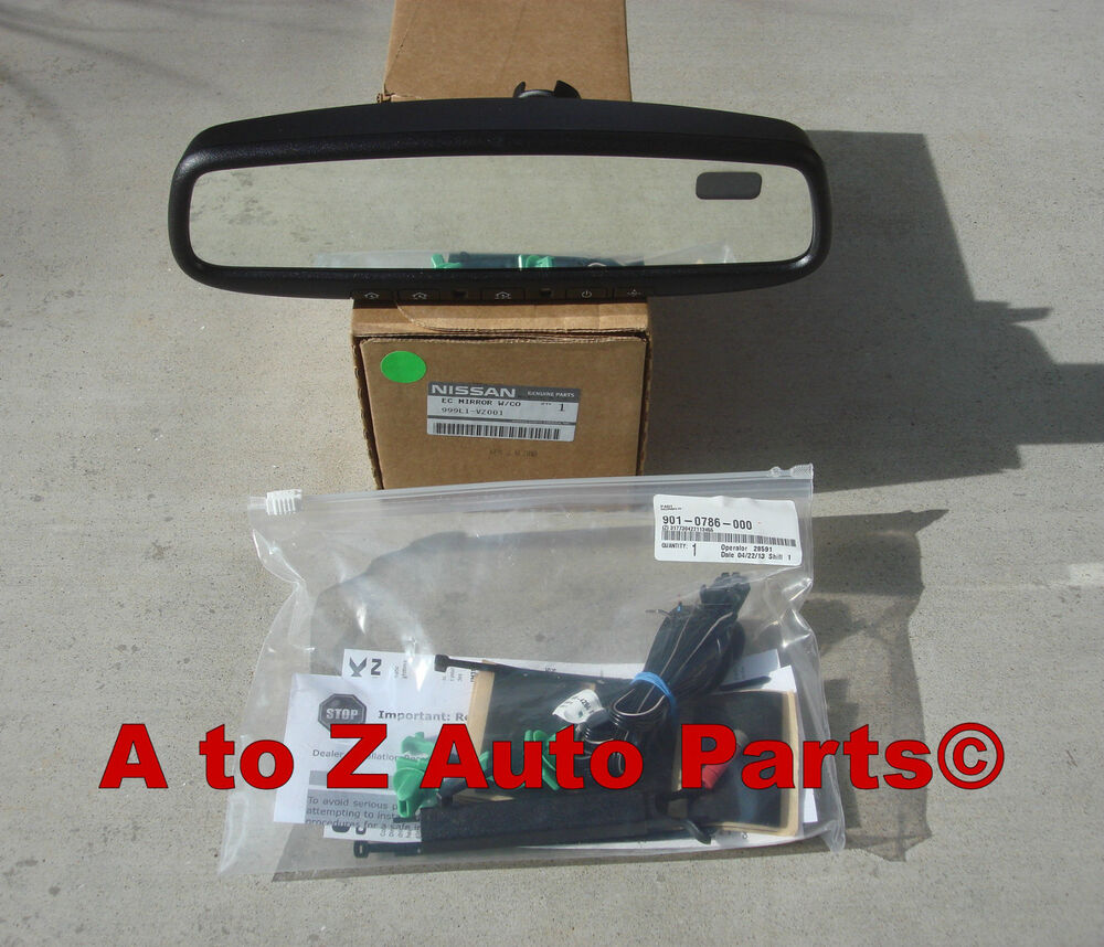 new 2014 nissan rogue auto dimming rear view mirror with homelink comp oem ebay. Black Bedroom Furniture Sets. Home Design Ideas