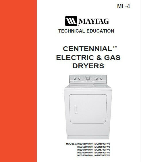 Maytag Centennial Dryer Electric Amp Gas Service Repair