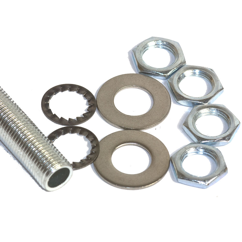 M mm pitch zp steel tube all thread nipple accessory