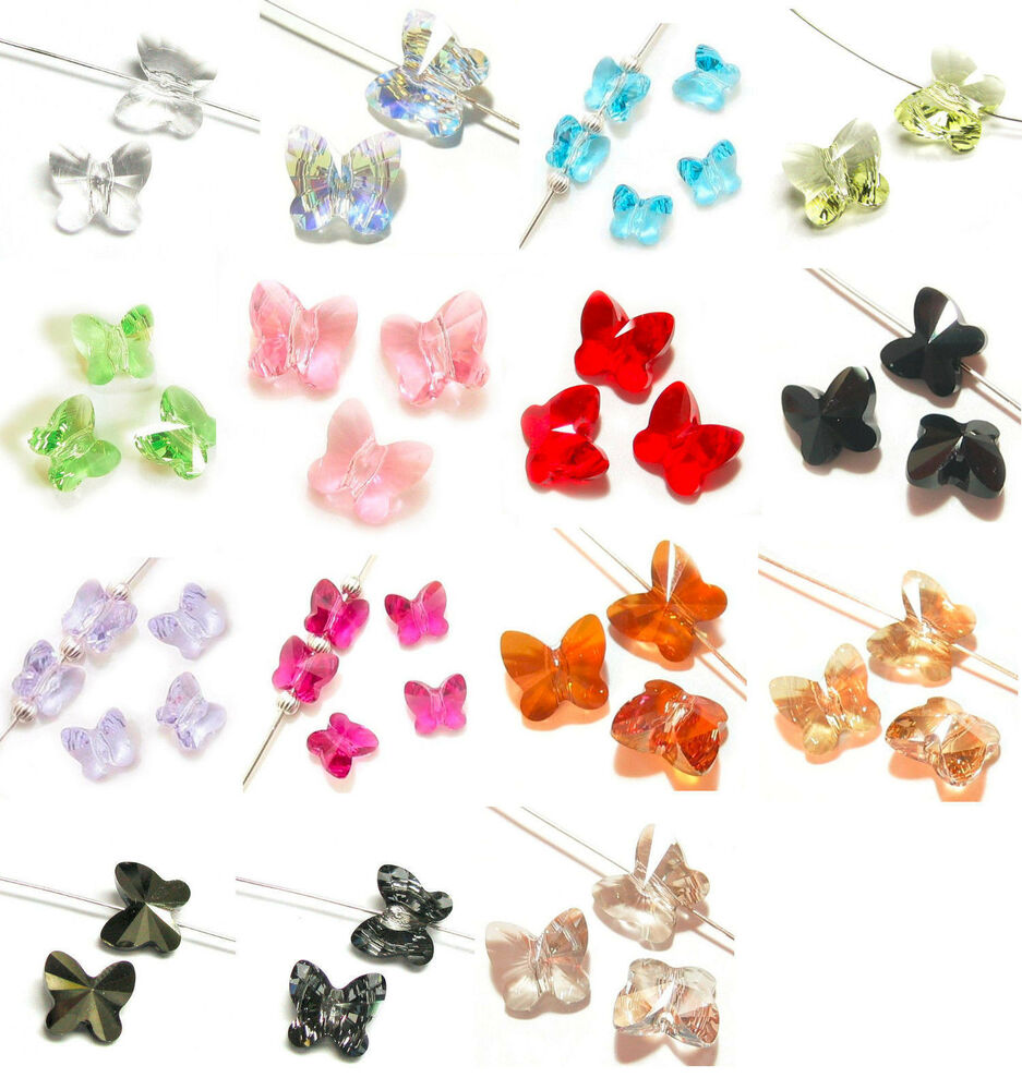 Crystal Bead Beads: SWAROVSKI Elements Crystal 5754 Butterfly BEAD Variable