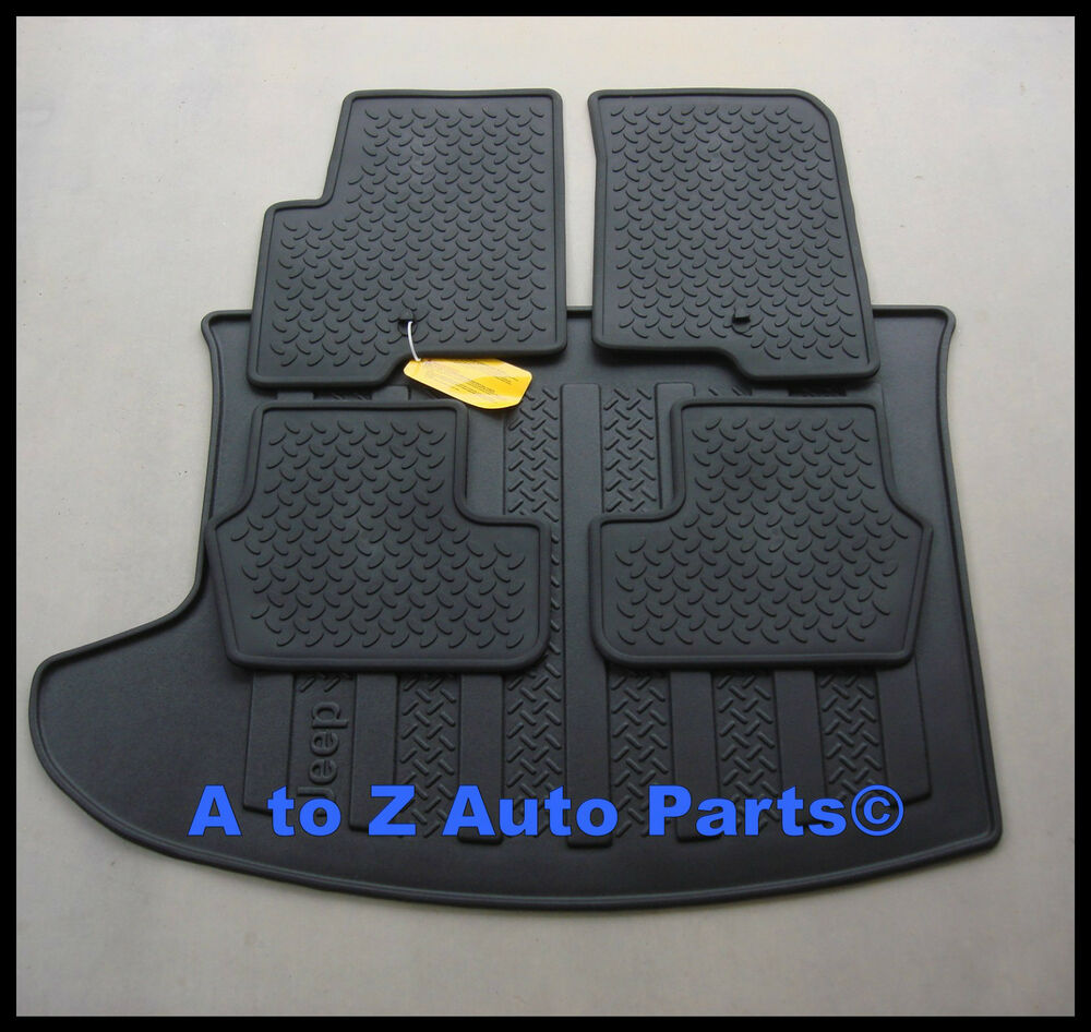 Floor mats jeep compass - New 2008 2017 Jeep Compass Patriot Floor Mats Cargo Mat Combo Set Oe Mopar Ebay