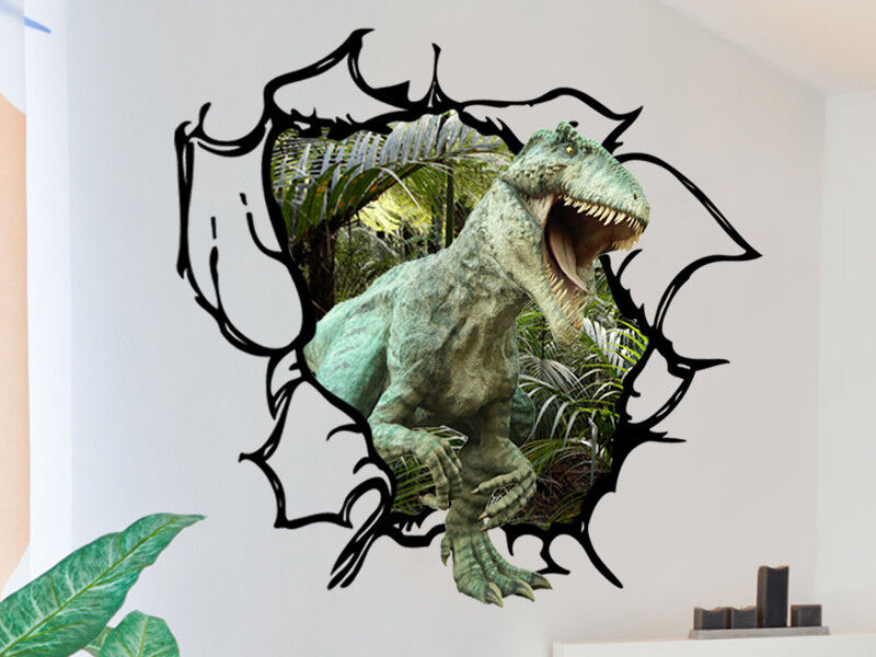 Dinosaur Wall Decal Tyrannosaurus Rex Tearing Through
