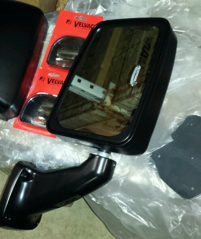 Rv Side Mirrors : Velvac rv mirror passenger side manual black monaco