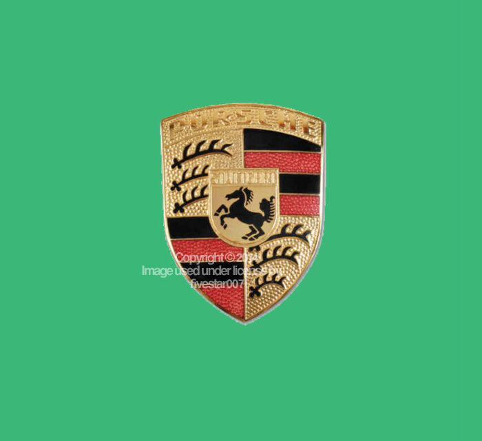 new genuine porsche sign front hood emblem crest logo 911. Black Bedroom Furniture Sets. Home Design Ideas
