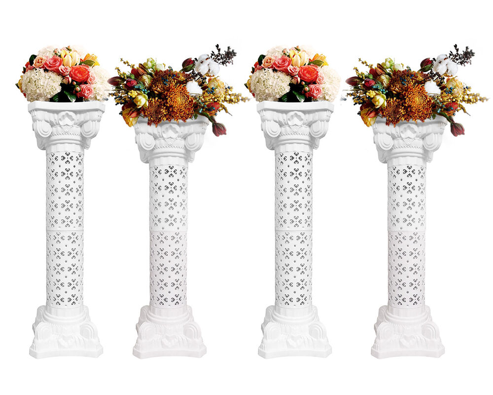 Set of 4 Plaster Coated Plastic Wedding Roman Columns ...