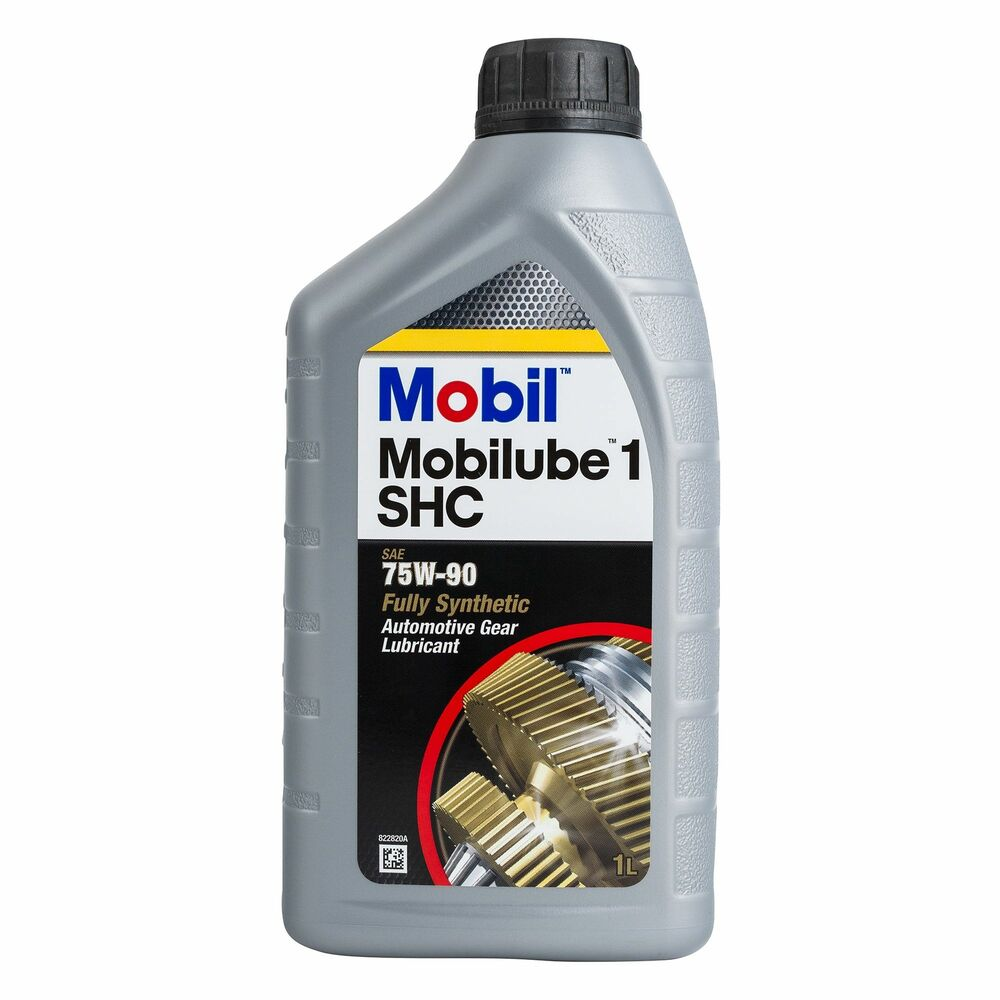mobil mobilube 1 shc 75w 90 performance synthetic gear oil 1l api gl4 gl5 ebay. Black Bedroom Furniture Sets. Home Design Ideas